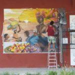 Colorindo a Orla Conde com Grafites em homenagem a Debret